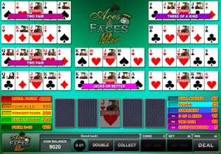 Aces And Faces Poker at Betway Casino