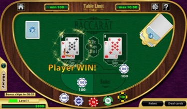 Baccarat Win Image