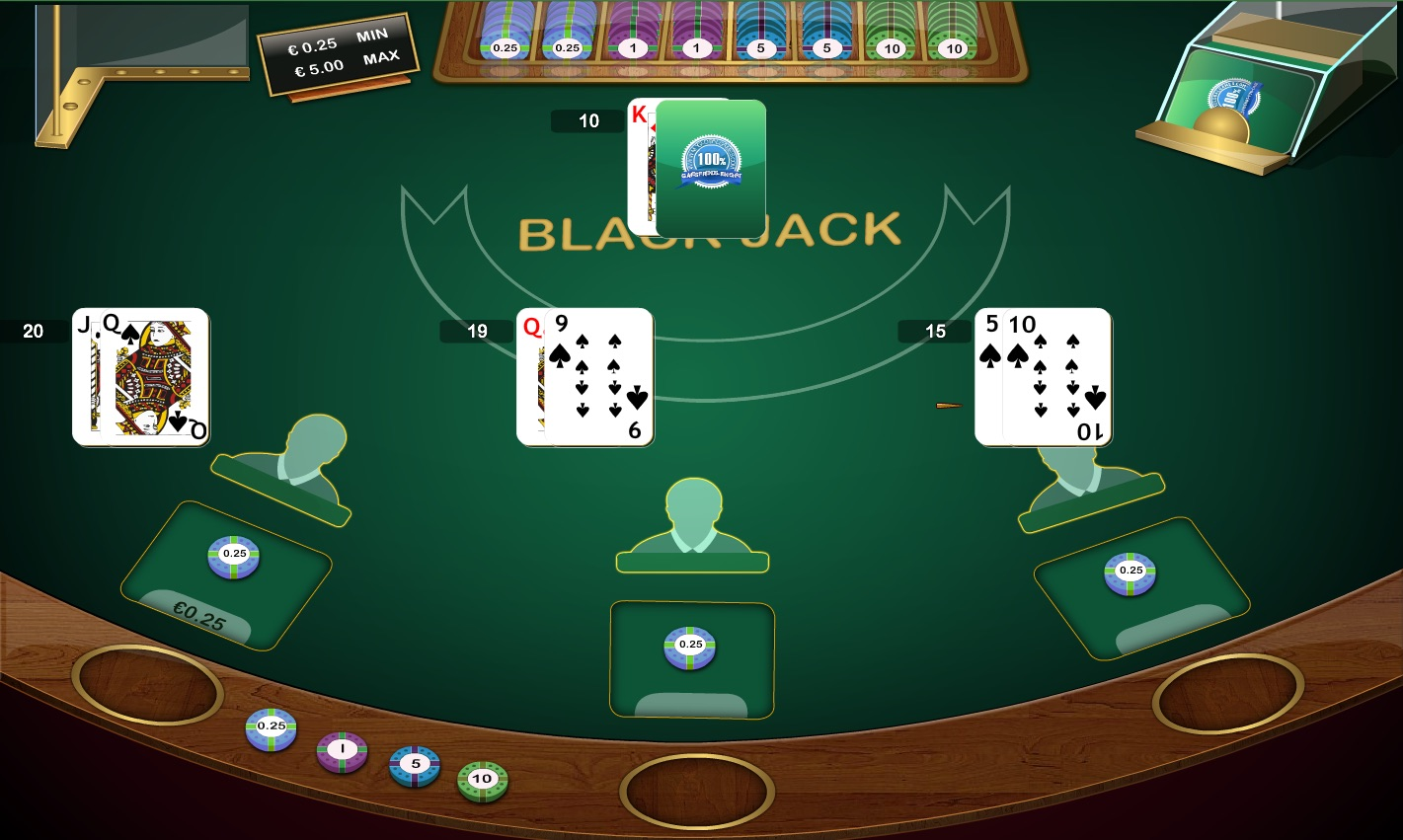 Blackjack table top view -  Blackjack Table