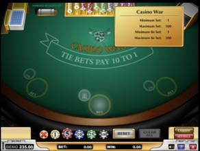Casino War - Bet Info