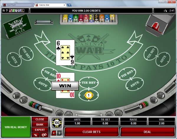 casino war play online