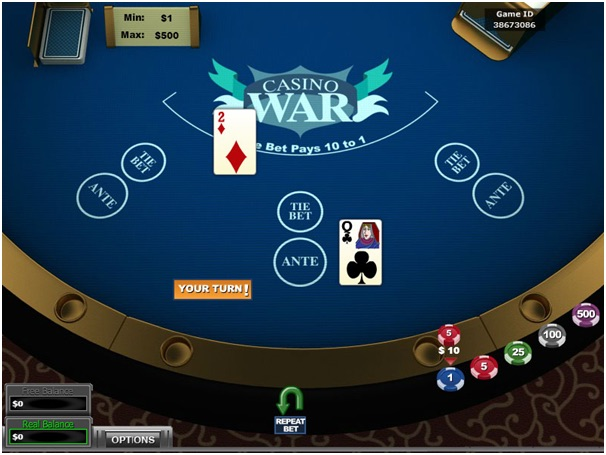 Play Casino War for Real Money or Free