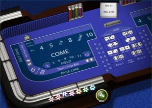 Craps Table Screenshot