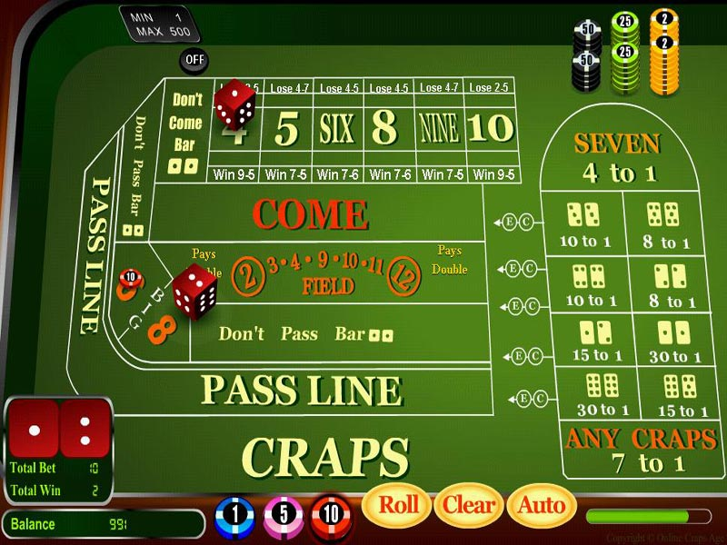 Casino craps craps dice gaming money play prize win little creek resort and casino