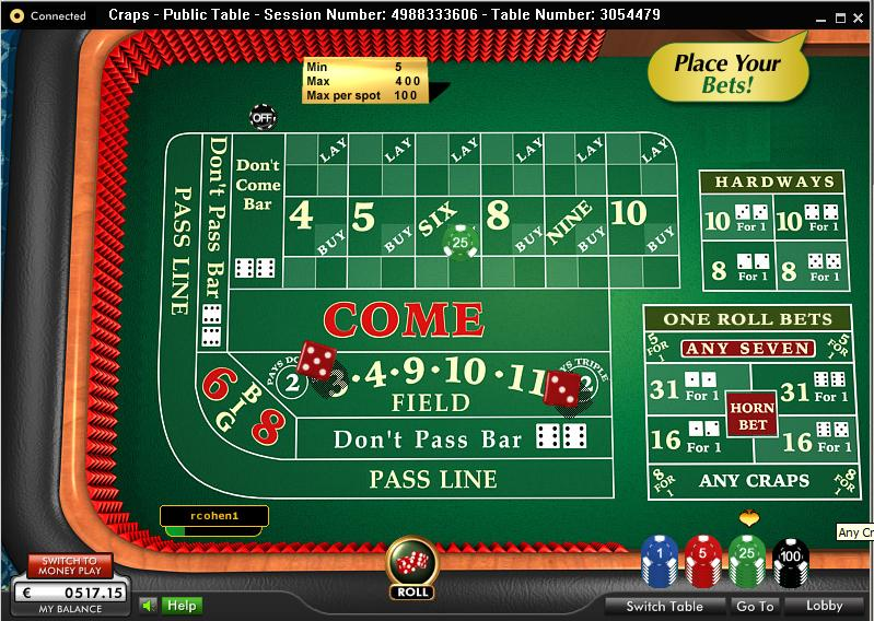online casino craps real money