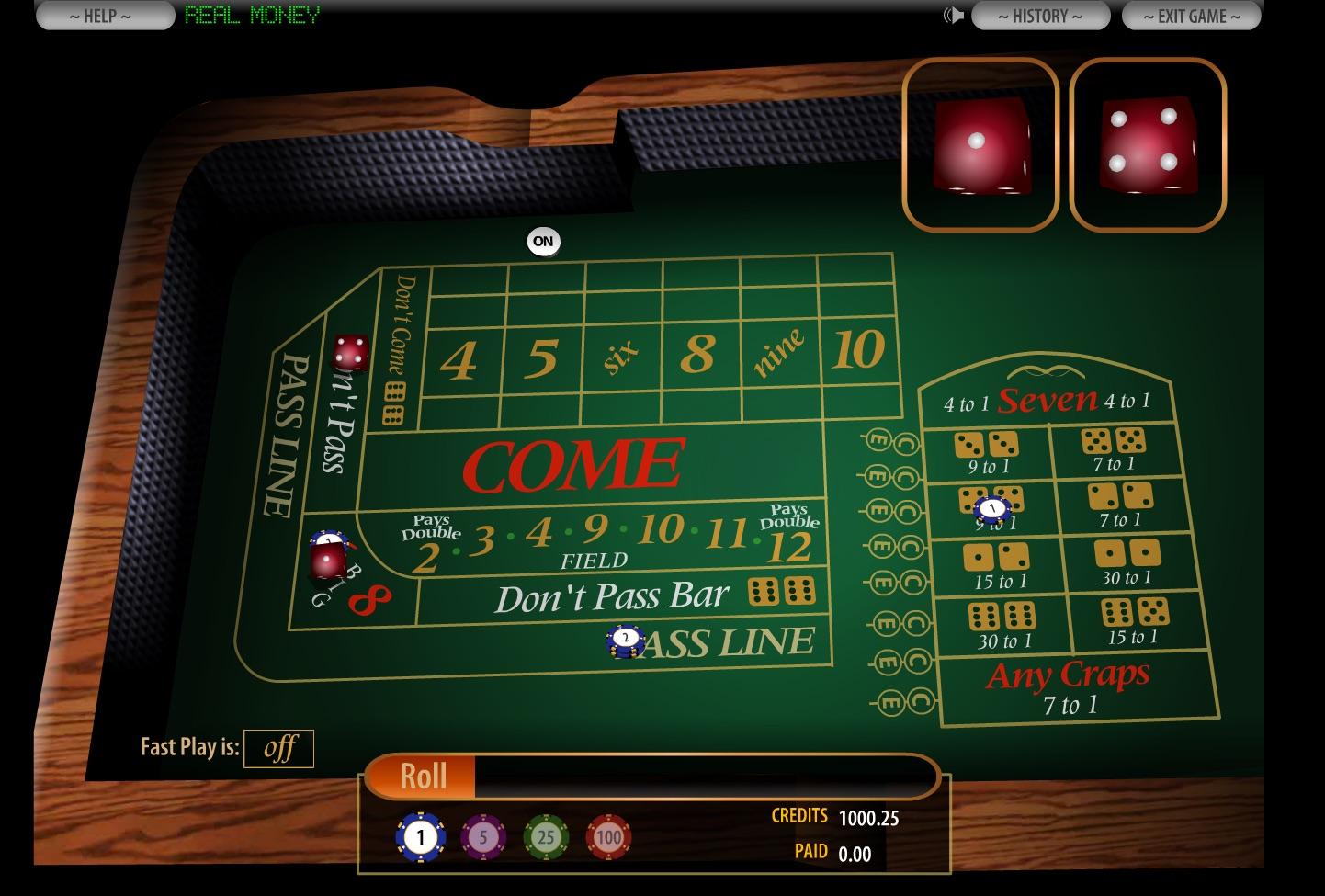 online casino craps for money