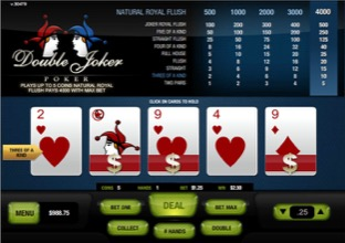 Double Joker Poker - Three Of A Kind Image