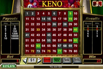 Keno Win Screenshot