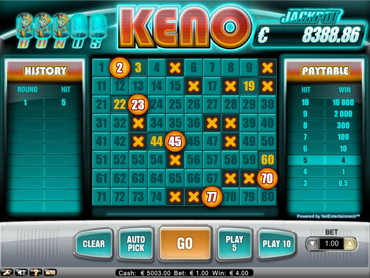 Keno Live Online Casino Games - Play it Now for Free