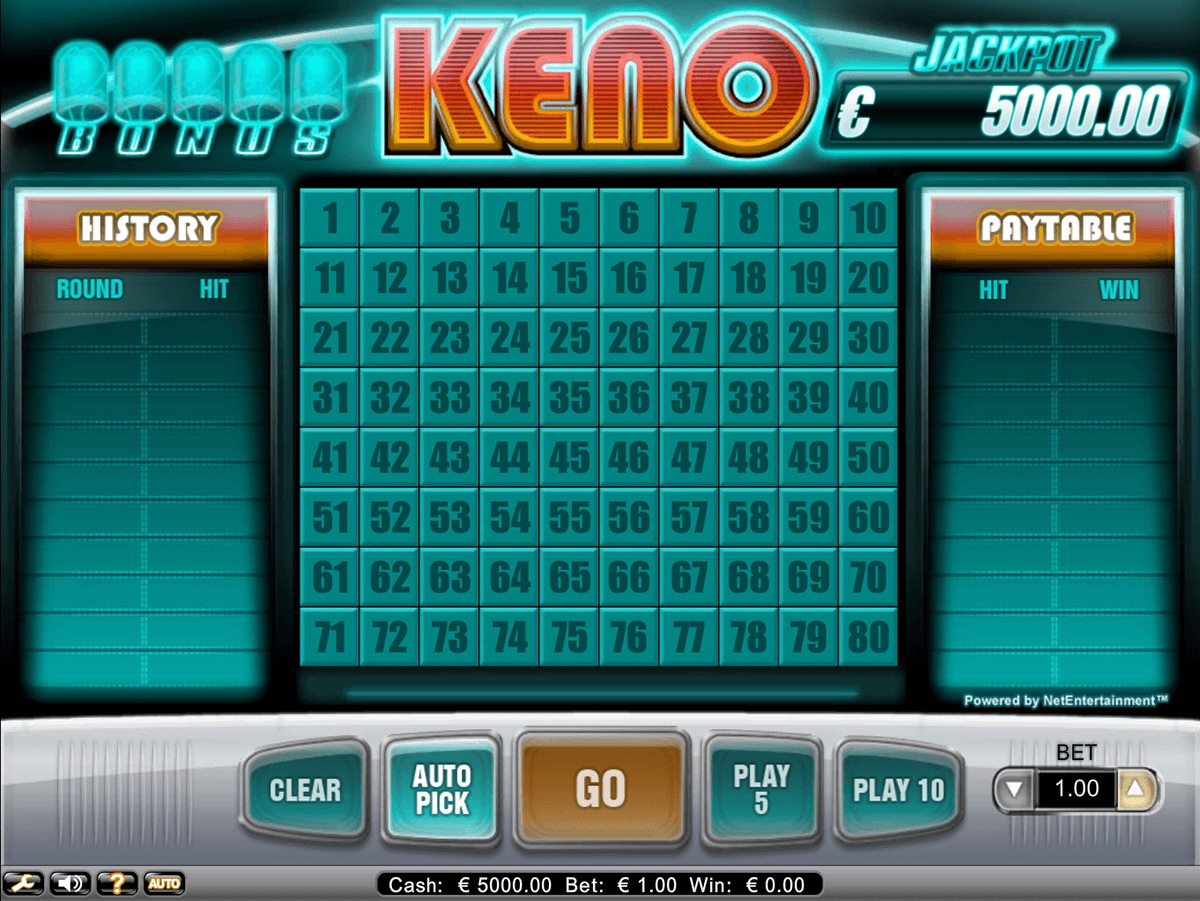 Play Keno Online for Free