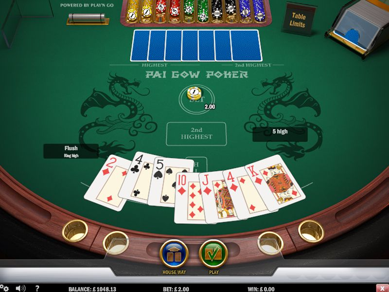 Play Pai Gow Video Poker Online at Casino.com UK