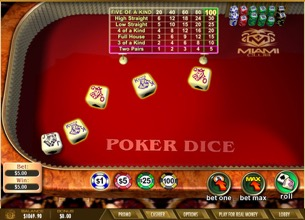 Poker Dice At Miami Club Casino