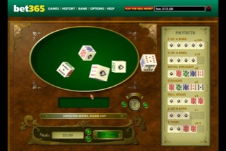 Poker Dice At Betway Casino