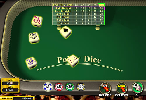 start online casino online dice