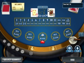 Playing Red Dog Poker Screenshot