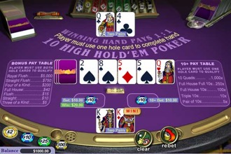 Ten High Hold 'em Poker Screenshot