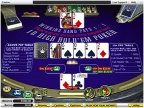 Ten High Hold 'em Poker Table