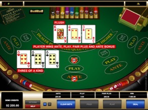 Three Card Poker Win Image