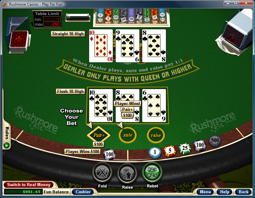 Free Three Card Poker