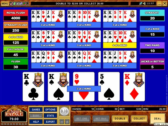 online casino video poker games onl