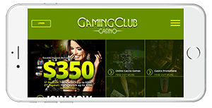 Gaming Club Casino on Mobile