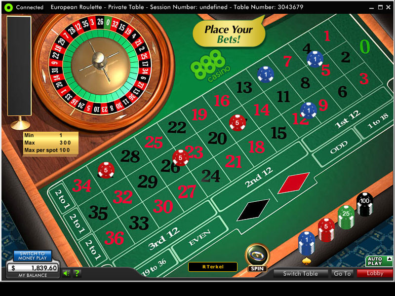 888 Casino Casino Screenshot #1