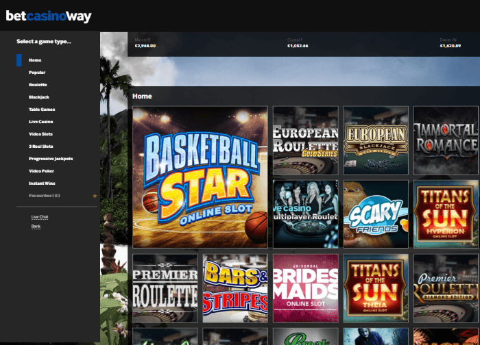 Betway Casino Casino Screenshot #0