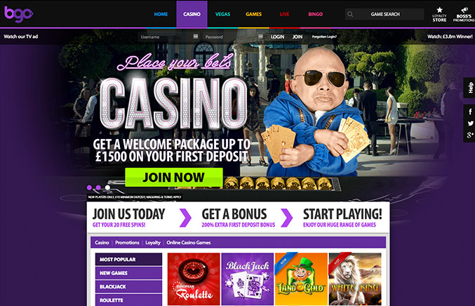 BGO Casino Casino Screenshot #0