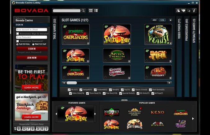 Bovada Casino Casino Screenshot #0