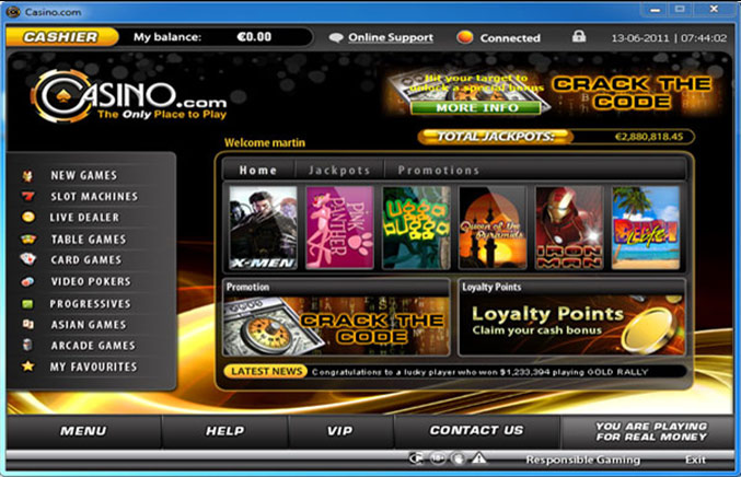 Casino.com Casino Screenshot #0