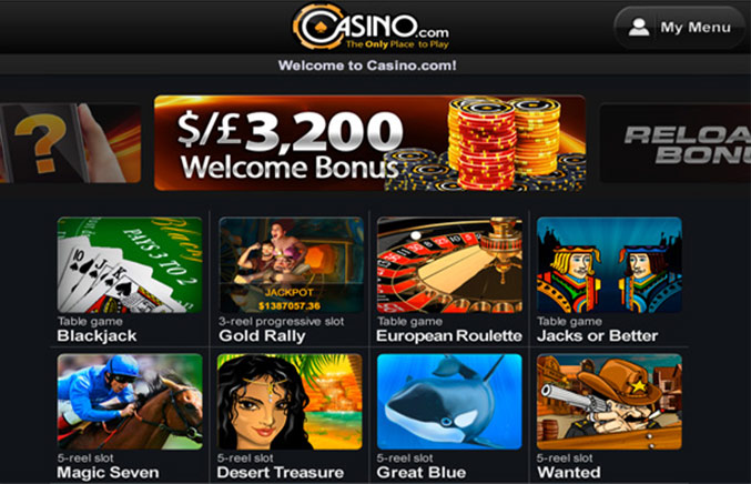 Casino.com Casino Screenshot #1