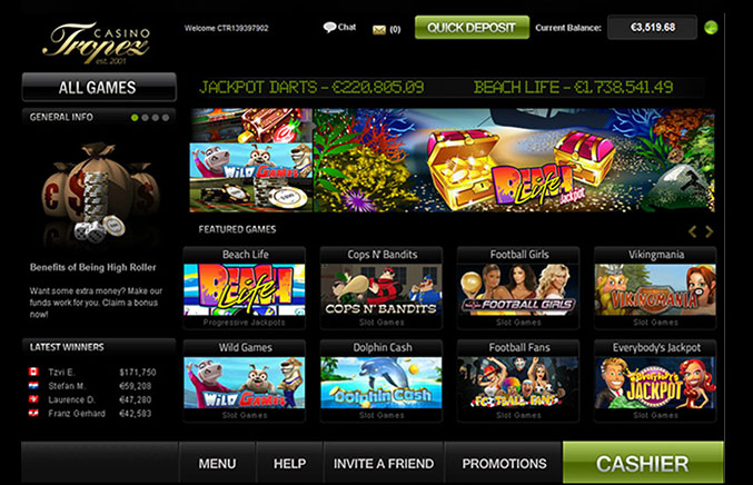 Casino Tropez Casino Screenshot #0