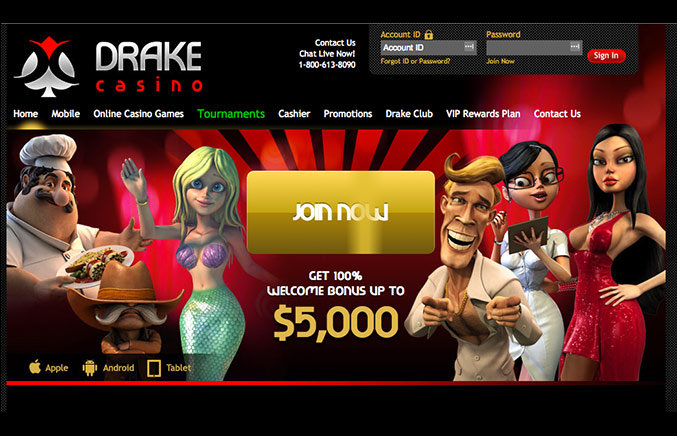Drake Casino Casino Screenshot #0