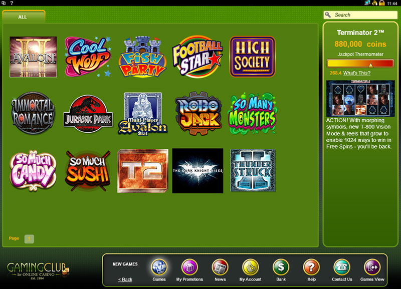 Gaming Club Casino Casino Screenshot #0