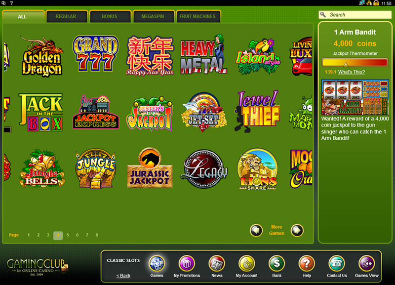 Gaming Club Casino Casino Screenshot #3