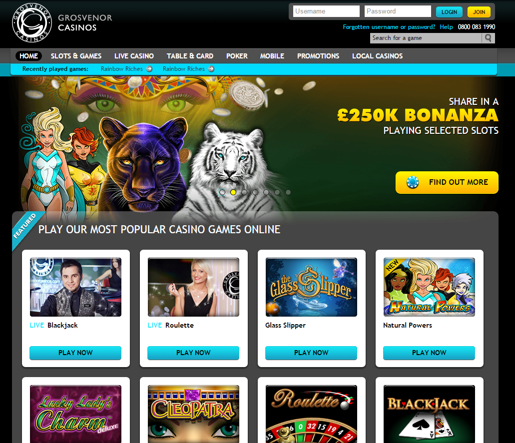 Grosvenor Casinos Casino Screenshot #3