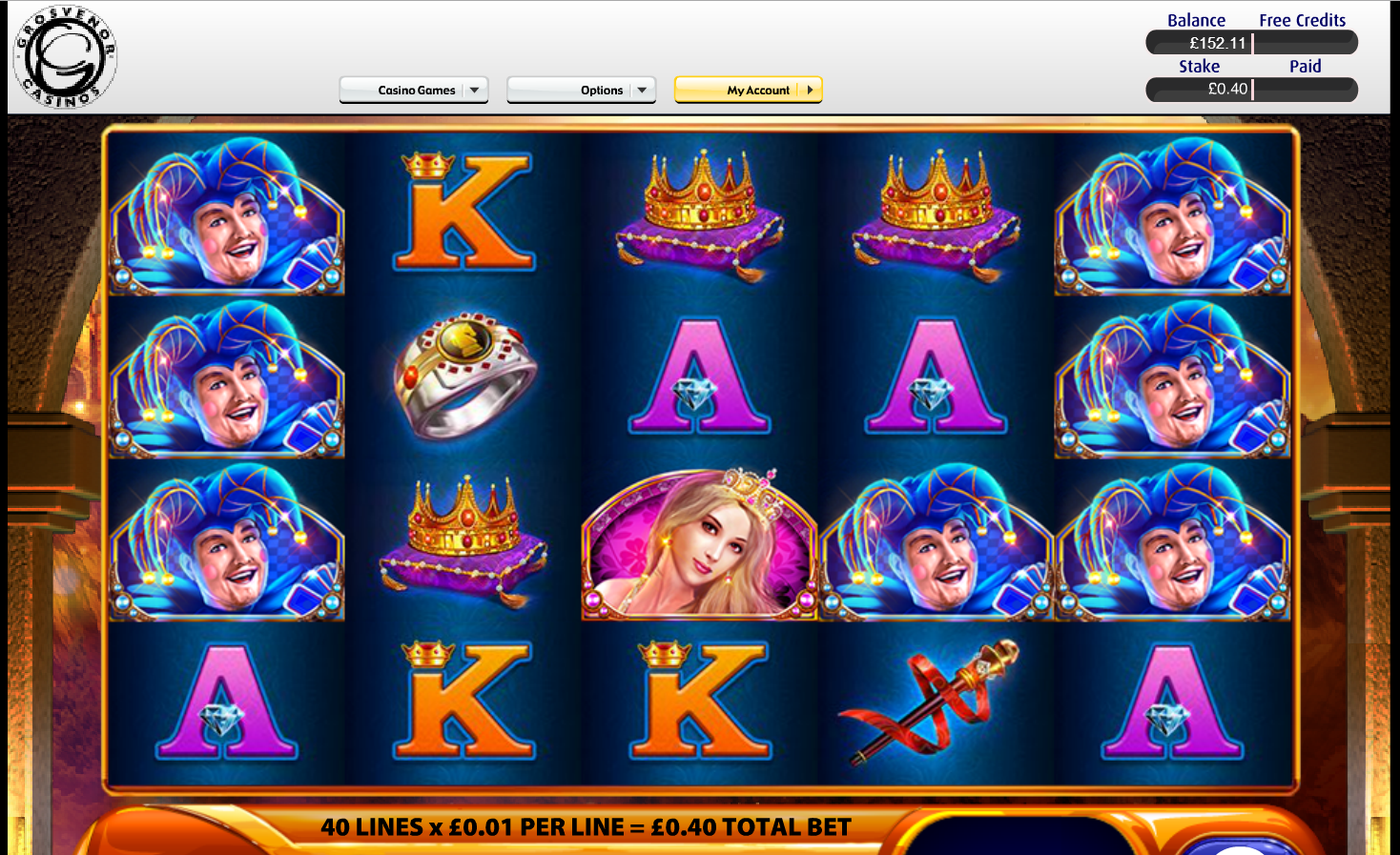Grosvenor Casinos Casino Screenshot #0