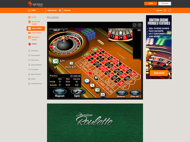Ignition Casino Casino Screenshot #2