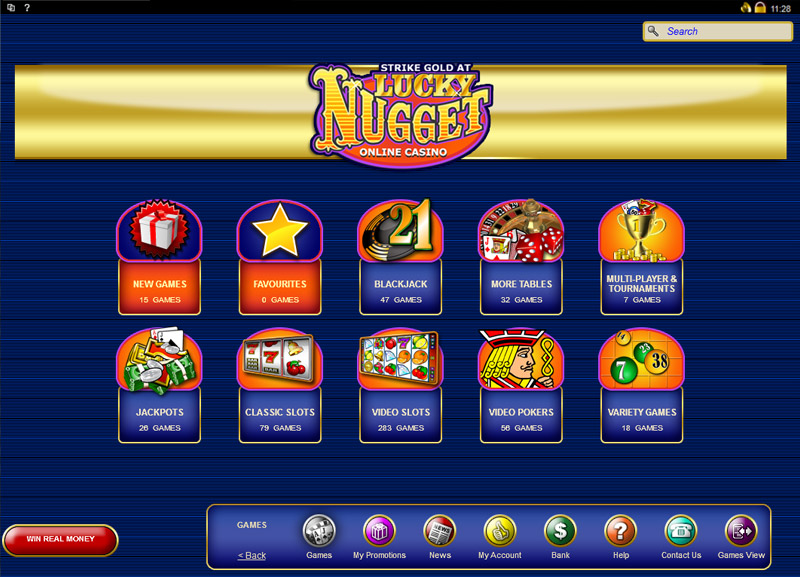 Lucky Nugget Casino Casino Screenshot #0