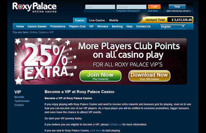 Roxy Palace Casino Casino Screenshot #2