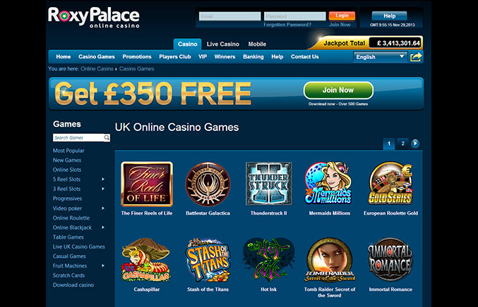 Roxy Palace Casino Casino Screenshot #4