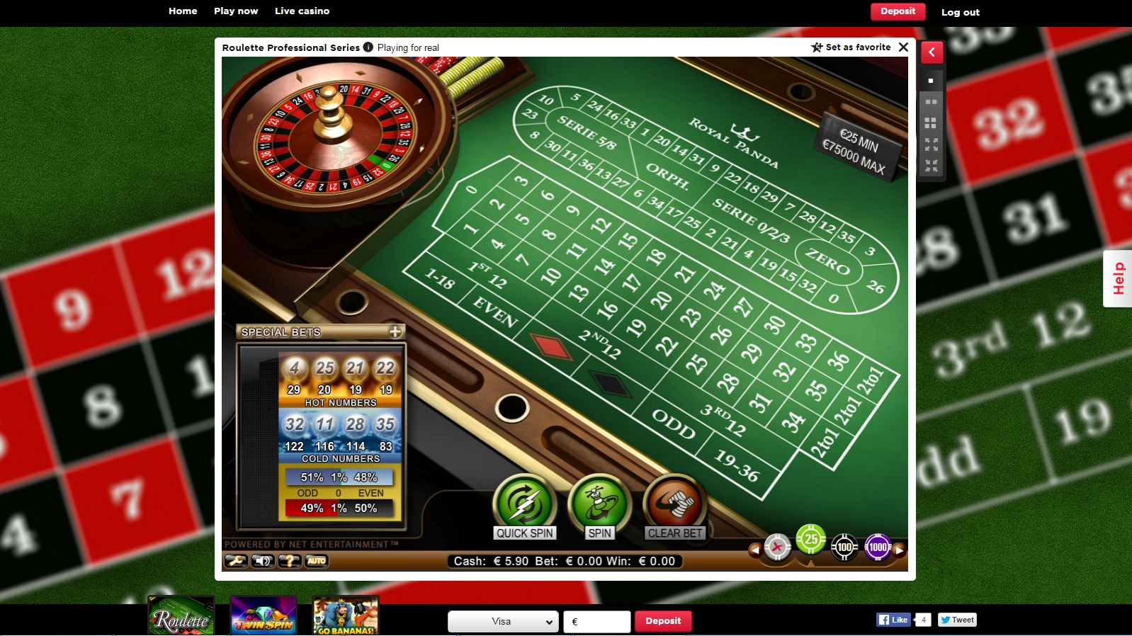 Royal Panda Casino Casino Screenshot #2