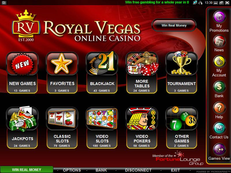 Royal Vegas Casino Casino Screenshot #3