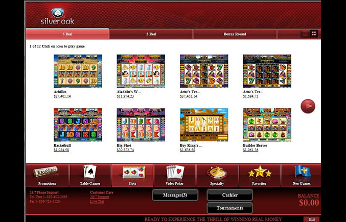 Silver Oak Casino Casino Screenshot #2