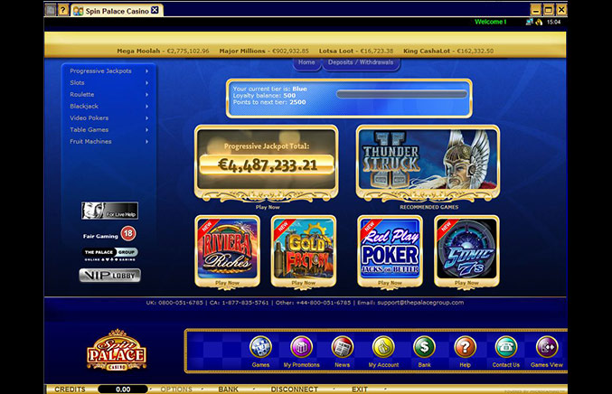 Spin Palace Casino Casino Screenshot #0