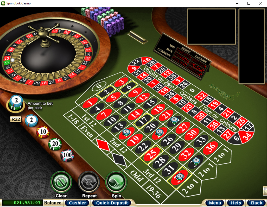 Springbok Casino Casino Screenshot #2
