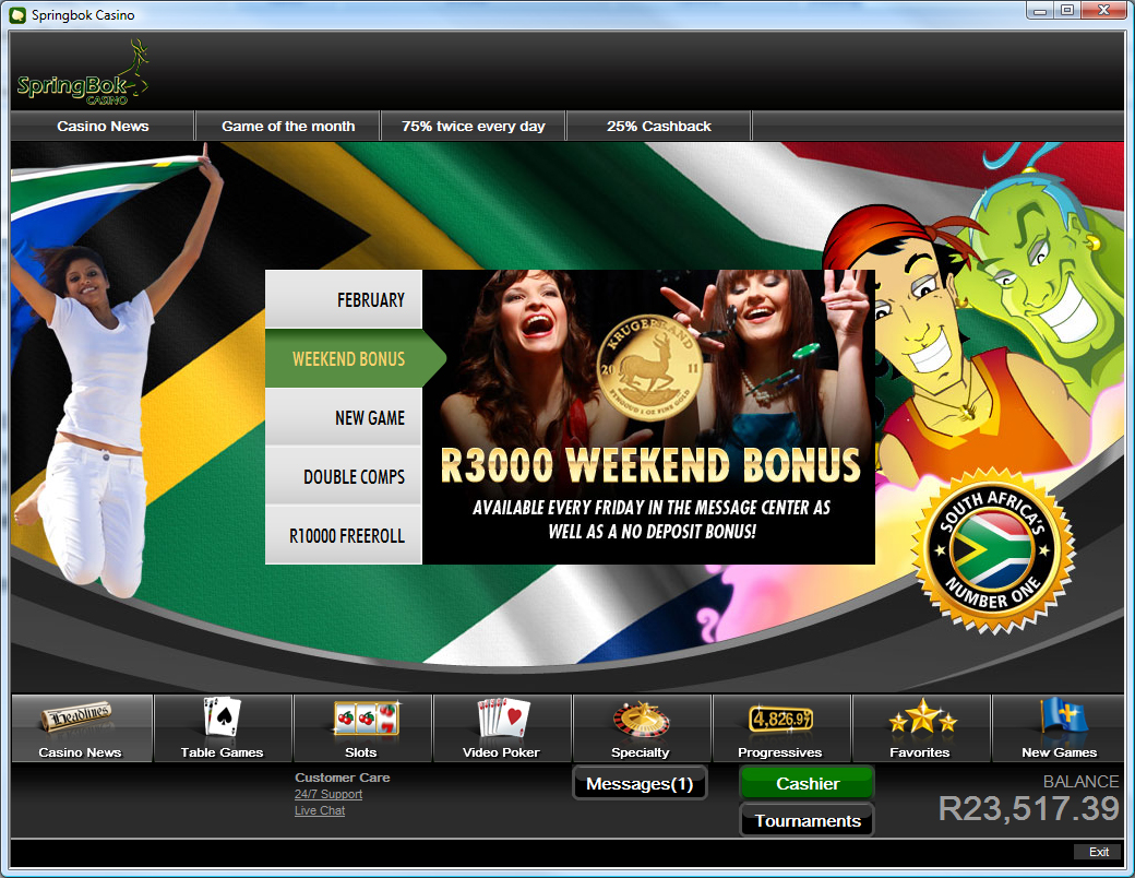 Springbok Casino Casino Screenshot #0
