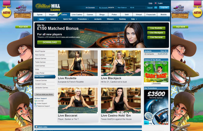 william hill online casino book of