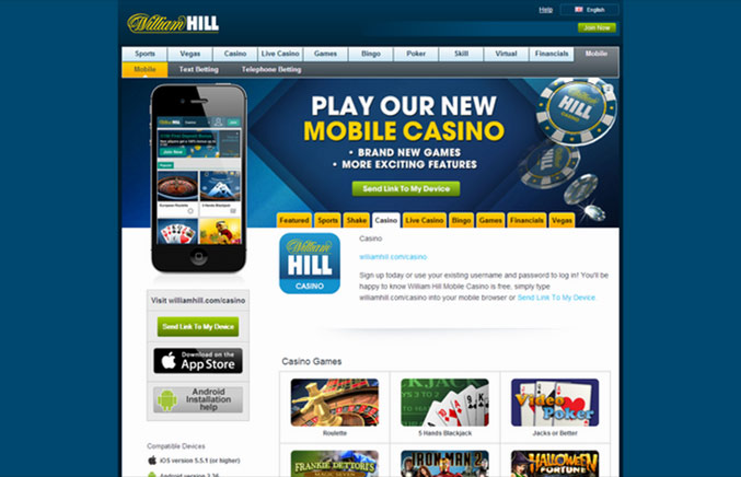 online william hill casino  download