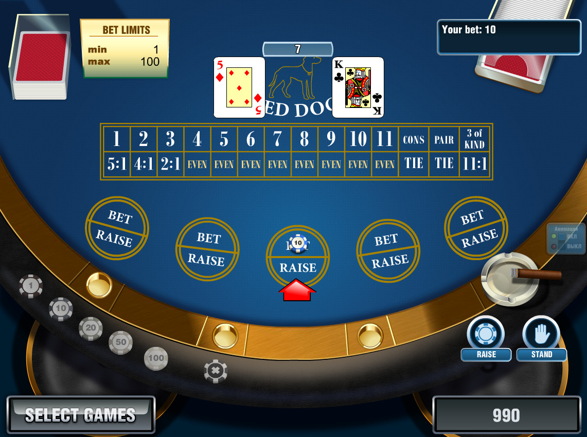 Play Red Dog Video Poker Online at Casino.com India